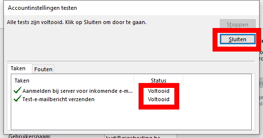 Outlook stap 8
