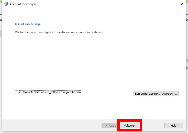 Outlook stap 9